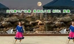 20纯艺舞吧广场舞--草原的月亮